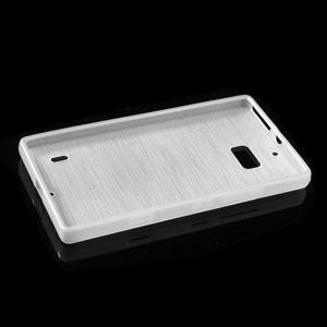 Gelový obal s broušeným vzorem Nokia Lumia 930 - bílý - 5
