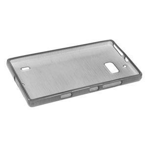 Gelový obal s broušeným vzorem Nokia Lumia 930 - šedý - 5