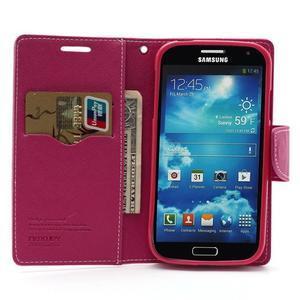 Fancy peněženkové pouzdro na Samsung Galaxy S4 -  růžové - 5