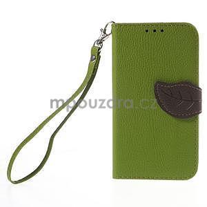 Zelené/hnědé peněženkové pouzdro na Samsung Galaxy Core Prime - 5