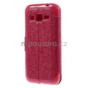 Zapínací peněženkové pouzdro na Samsung Galaxy Core Prime - rose - 5