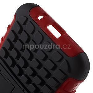 Extrémně odolný obal se stojánkem na Samsung Galaxy Core Prime - červený - 5
