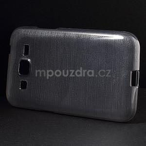 Broušený gelový kryt na Samsung Galaxy Core Prime - šedý - 5