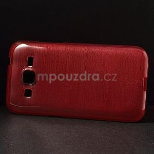 Broušený gelový kryt na Samsung Galaxy Core Prime - červený - 5
