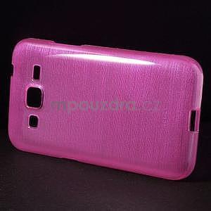 Broušený gelový kryt na Samsung Galaxy Core Prime - rose - 5