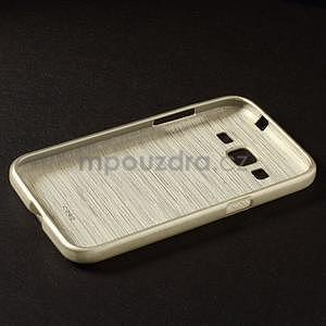 Broušený gelový kryt na Samsung Galaxy Core Prime - zlatý - 5