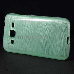 Broušený gelový kryt na Samsung Galaxy Core Prime - cyan - 5