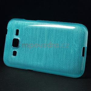 Broušený gelový kryt na Samsung Galaxy Core Prime - tyrkysový - 5