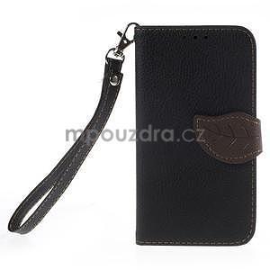 Černé/hnědé peněženkové pouzdro na Samsung Galaxy Core Prime - 5