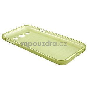 Broušené gelový kryt na Samsung Galaxy E5 - okrový - 5