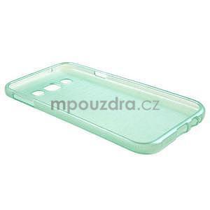 Broušené gelový kryt na Samsung Galaxy E5 - cyan - 5