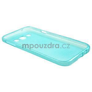 Broušené gelový kryt na Samsung Galaxy E5 - tyrkysový - 5