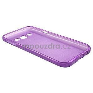 Broušené gelový kryt na Samsung Galaxy E5 - fialový - 5