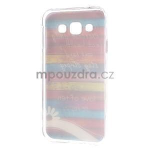 Gelový obal na mobil Samsung Galaxy E5 - barevné desky - 5