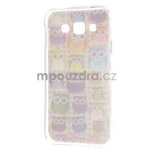 Gelový obal na mobil Samsung Galaxy E5 - sovičky - 5