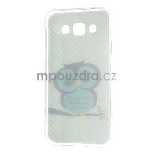Gelový obal na mobil Samsung Galaxy E5 - sova - 5