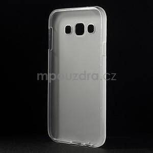 Matný gelový obal na Samsung Galaxy E5 - bílý - 5