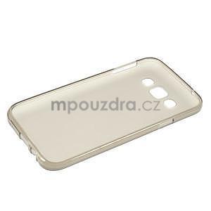 Matný gelový obal na Samsung Galaxy E5 - šedý - 5