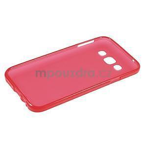 Matný gelový obal na Samsung Galaxy E5 - červený - 5