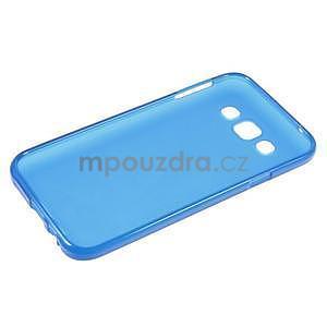 Matný gelový obal na Samsung Galaxy E5 - modrý - 5