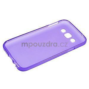 Matný gelový obal na Samsung Galaxy E5 - fialový - 5
