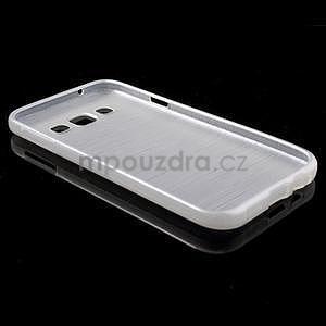 Broušené gelový kryt na Samsung Galaxy E5 - bílý - 5