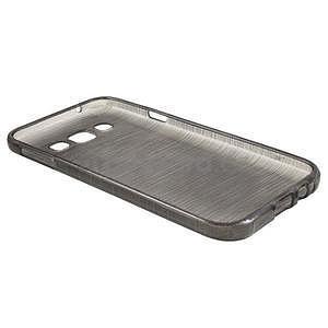 Broušené gelový kryt na Samsung Galaxy E5 - šedý - 5