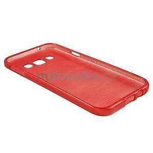 Broušené gelový kryt na Samsung Galaxy E5 - červený - 5