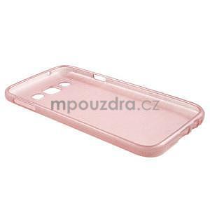 Broušené gelový kryt na Samsung Galaxy E5 - růžový - 5