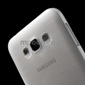 Broušený gelový obal pro Samsung Galaxy E7 - bílý - 5