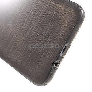 Broušený gelový obal pro Samsung Galaxy E7 - šedý - 5