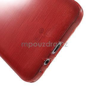 Broušený gelový obal pro Samsung Galaxy E7 - červený - 5