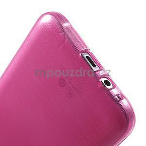 Broušený gelový obal pro Samsung Galaxy E7 - rose - 5