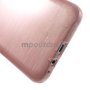 Broušený gelový obal pro Samsung Galaxy E7 - růžový - 5