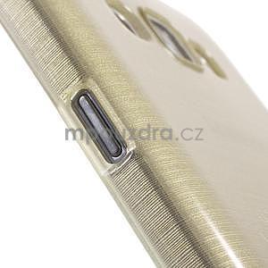 Broušený gelový obal pro Samsung Galaxy E7 - champagne - 5