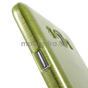 Broušený gelový obal pro Samsung Galaxy E7 - zelený - 5