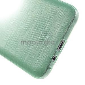 Broušený gelový obal pro Samsung Galaxy E7 - cyan - 5
