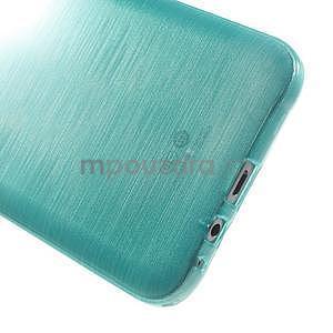 Broušený gelový obal pro Samsung Galaxy E7 - tyrkysový - 5