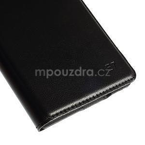 PU kožené pěněženkové pouzdro s okýnkem Samsung Galaxy E5 - černé - 5