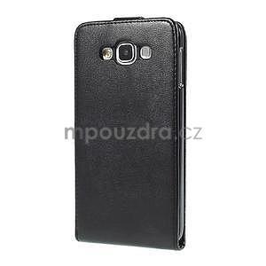 Černé flipové PU kožené pouzdro na Samsung Galaxy E7 - 5