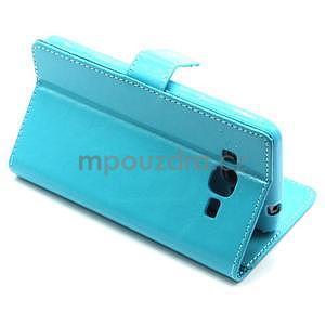 Tyrkysové pouzdro na Samsung Galaxy Grand Prime - 5