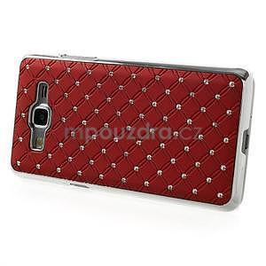 Červený drahokamový kryt na Samsung Grand Prime - 5