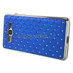 Modrý drahokamový kryt na Samsung Grand Prime - 5