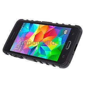 Vysoce odolný kryt se stojánkem na Samsung Galaxy Grand Prime - černý - 5