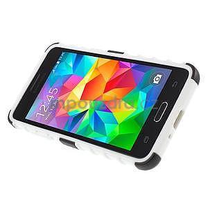 Vysoce odolný kryt se stojánkem na Samsung Galaxy Grand Prime - bílý - 5
