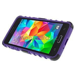 Vysoce odolný kryt se stojánkem na Samsung Galaxy Grand Prime - fialový - 5