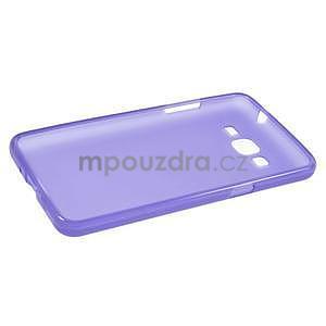 Fialový matný gelový obal pro Samsung Galaxy Grand Prime - 5