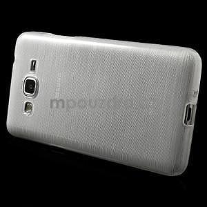 Broušený gelový obal pro Samsung Galaxy Grand Prime -  bílý - 5