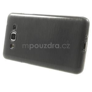 Broušený gelový obal pro Samsung Galaxy Grand Prime - šedý - 5