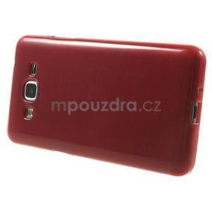 Broušený gelový obal pro Samsung Galaxy Grand Prime - červený - 5